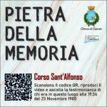 Pietra della Memoria Caposele - Corso San Alfonso -