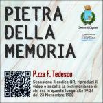 Pietra della Memoria Caposele - P.zza F. Tedesco -