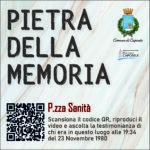 Pietra della Memoria Caposele - P.zza Sanità -
