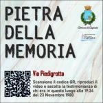 Pietra della Memoria Caposele - Via Piedigrotta